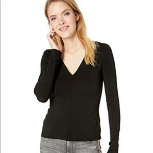 New Bailey 44 The Low Down Jersey Top, Black Small